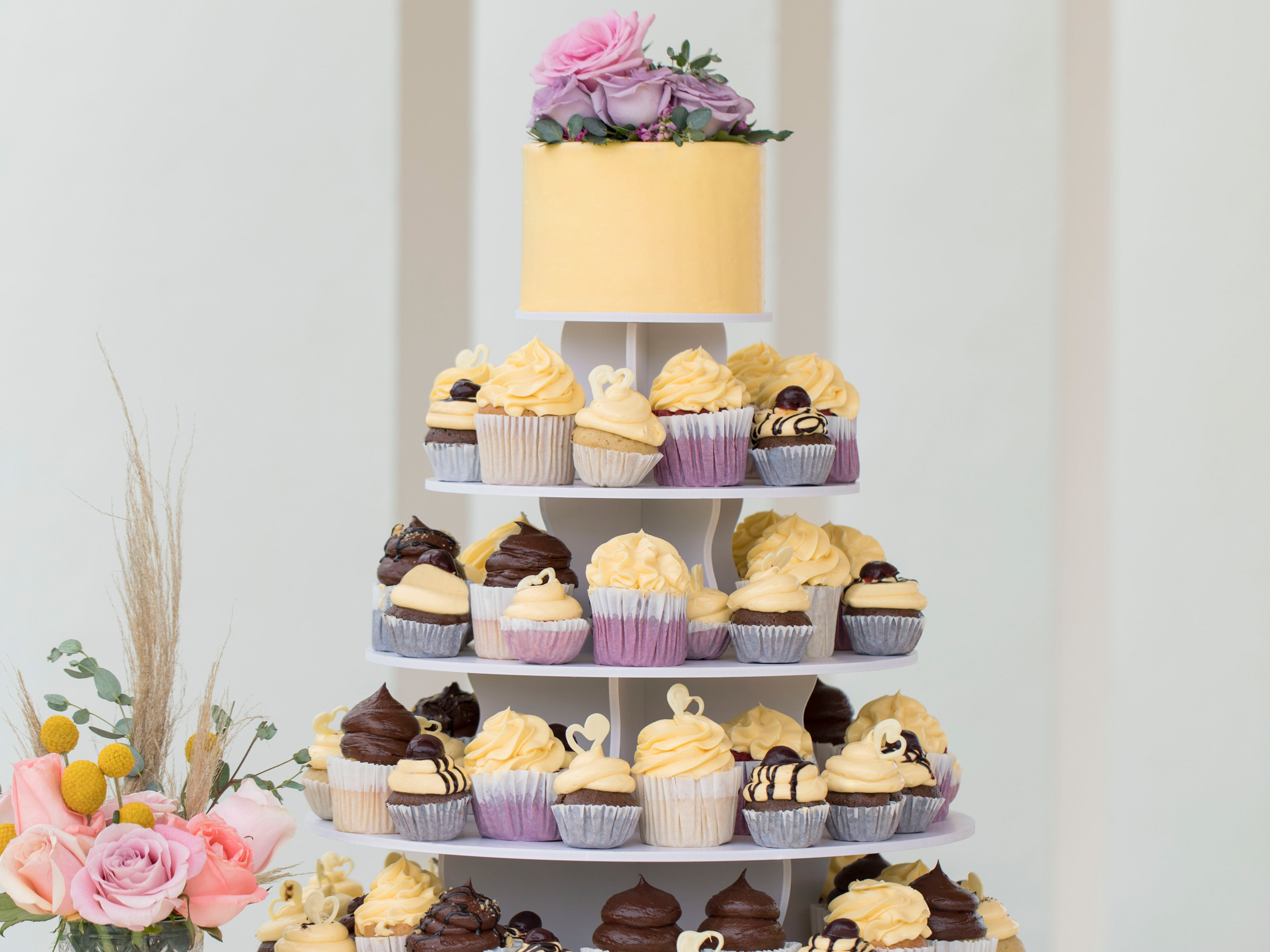 Cupcake Tower at a Punta Cana Destination Wedding