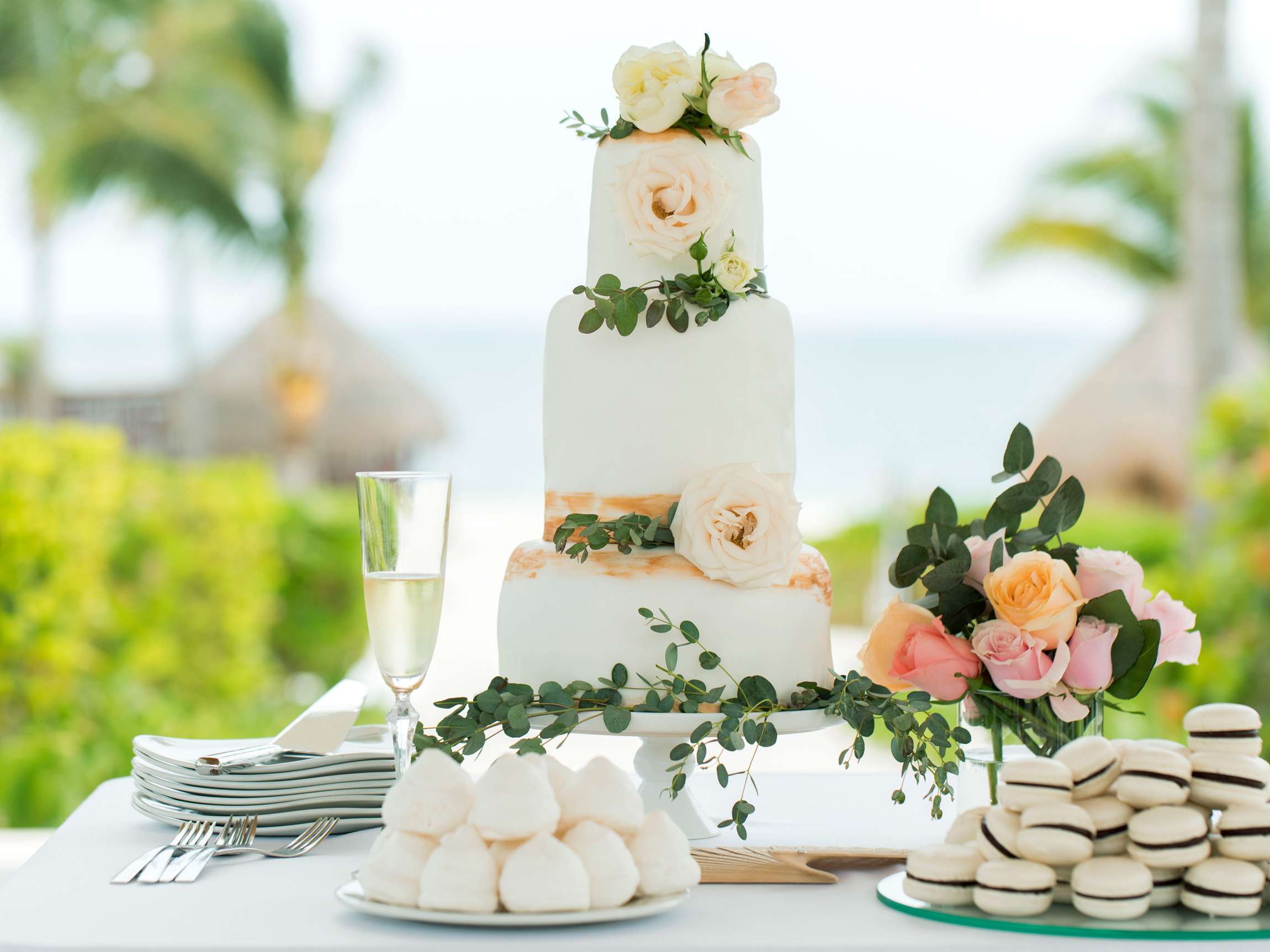 Punta Cana Destination Wedding Cake