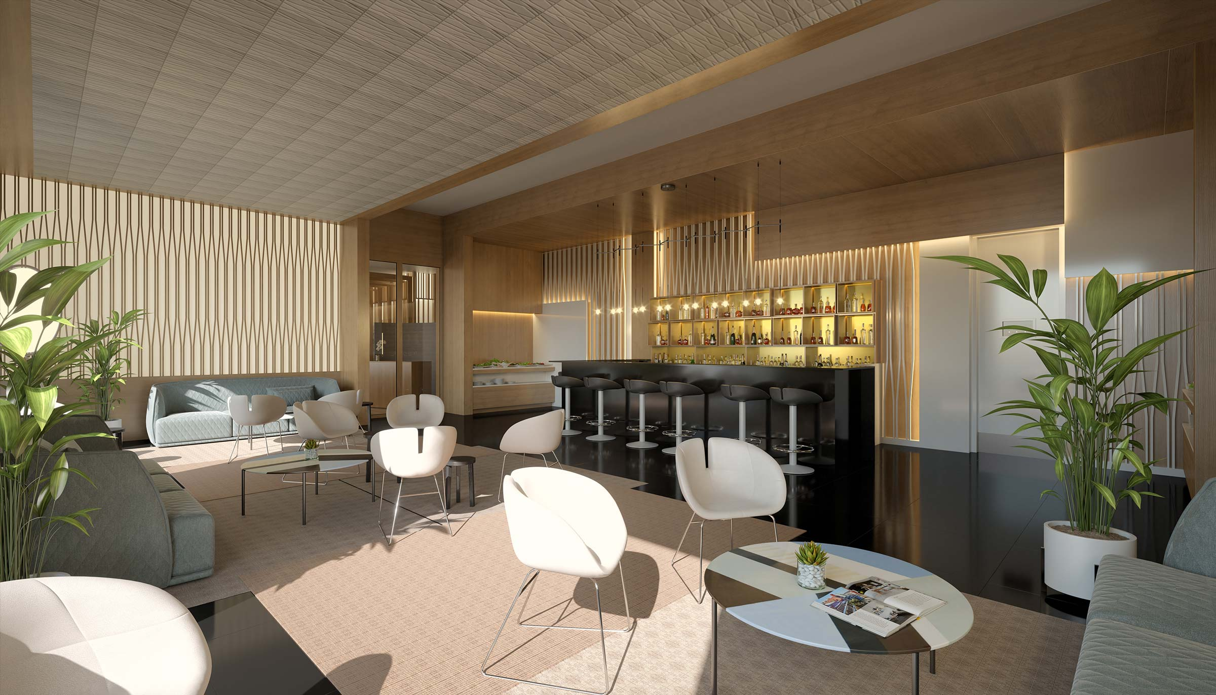 Club Lounge at a Luxury Adults Only All Inclusive Resort